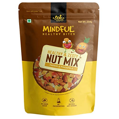 Dried Papaya and Pineapple Fruits and Mix Nuts Trail Mix...