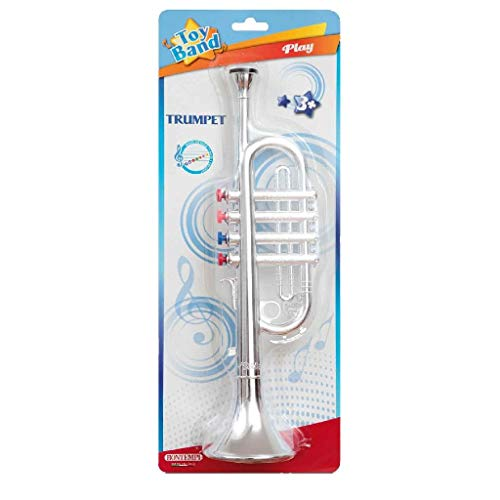 Bontempi 32 3802 Trompete mit 4 farbigen Ventilen/Noten