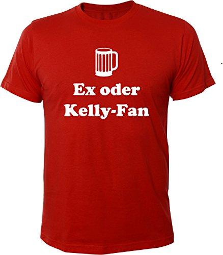 Mister Merchandise Witziges Herren Männer T-Shirt Ex oder Kelly-Fan Kelly Fan Family Saufen Party, Größe: XXL, Farbe: Rot