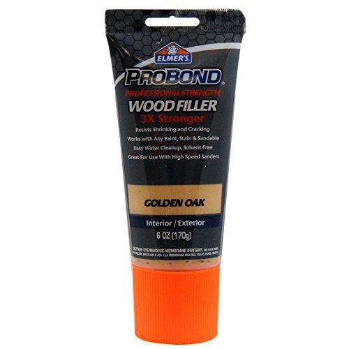 Elmer's ProBond Professional Strength Wood Filler 3X Stronger Golden Oak Interior/Exterior 6 OZ