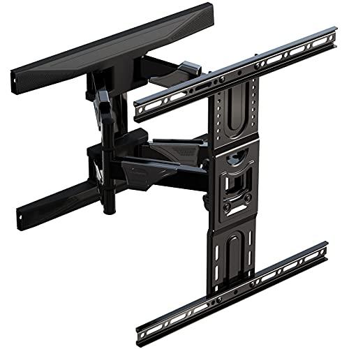Invision Soporte TV Pared de 37 a 65 Pulgadas - VESA 200x200mm a 400x400mm - Brazo Doble Fuerte y Robusto, se Inclina y Extiende con Movimiento Total - Capacidad Carga Máxima 45,5 kg (EV600)