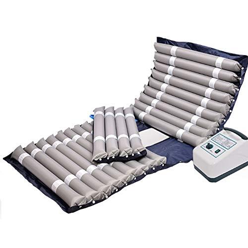 Luchtmatras met afwisselende drukpomp ziekenhuis slaapbedfunctie voorkomen doorligwonden Decubitus pneumatisch massagekussen 200x90cm Grijs