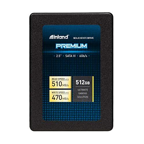 Inland Premium 512GB SSD 3D QLC NAND SATA 3.0 6GB/s 2.5' 7mm Internal Solid State Drive (512GB)