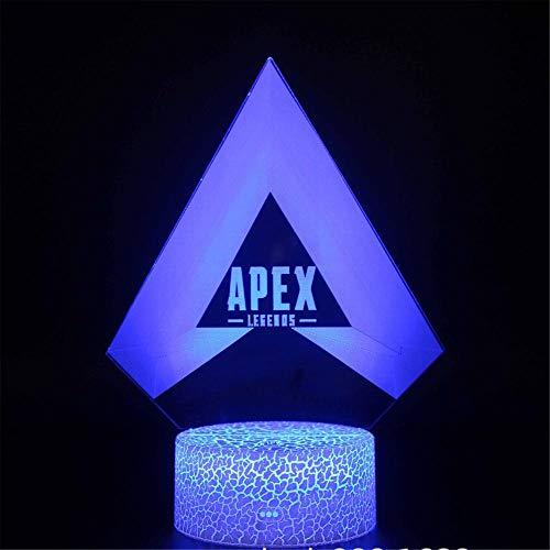 Lámpara 3D de ilusión óptica de luz nocturna Apex Legends B 3D lámpara de ilusión óptica de cumpleaños regalos de Navidad para niños niñas adultos hogar bar decoración