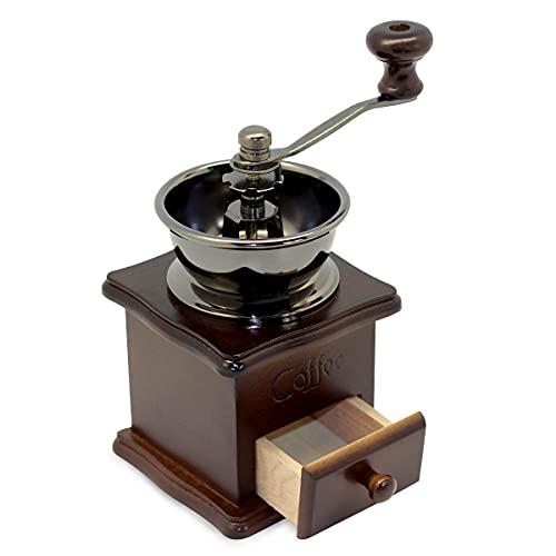 Kaffeemühle Retro Manuell Kaffeebohnen Grinder Mill Maschine Kaffee Holz Handkaffeemühle Coffee