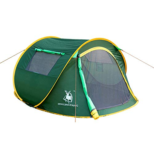 NBNBN Camping Tents for Family Automatic Pop-up Camping Tent Light Dome Outdoor Carrying Bag with Carry Bag and Quick Set-up (Color : Green, Size : One Size)