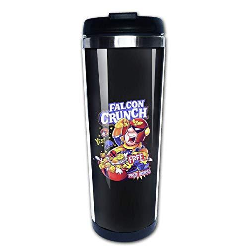 Taza de agua multifuncional de acero inoxidable con tapa taza de vaso de café con aislamiento térmico de doble capa Falcon Crunch Super Smash Brothers Captain