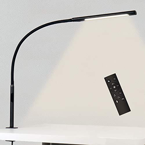 Swing Arm Lamp with Remote Control, Eye-Care Flexible...