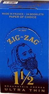 Zig Zag Ultra Thin Cigarette Rolling Papers, 1 1/2 Sizes, 3pk
