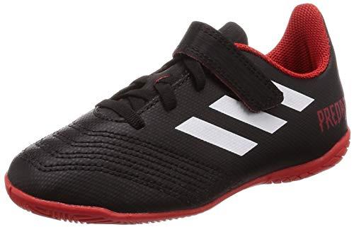 adidas Unisex-Kinder Predator Tango 18.4 In H&L Futsalschuhe, Schwarz (Negbás/Ftwbla/Rojo 001), 33.5 EU