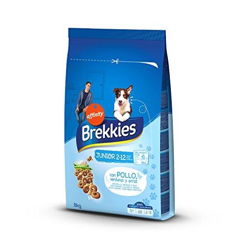 Brekkies Pienso para Perros Junior con Pollo, Verduras y Arroz - 8000 gr