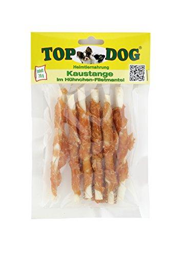 TOP Dog Kaustangen im Hähnchenfiletmantel 70g - TOP Dog Chewing Sticks with Chicken 70g (1x 70g)