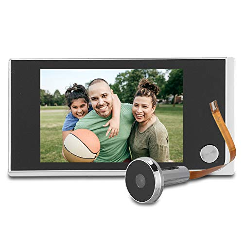 Video Door Phone,Digital LCD Security Camera 120 Degree Peephole Viewer Wireless Dual-Way Video Intercom Doorbell System 3.5 Inch Color Monitor for Villa House Office Apartment home security system