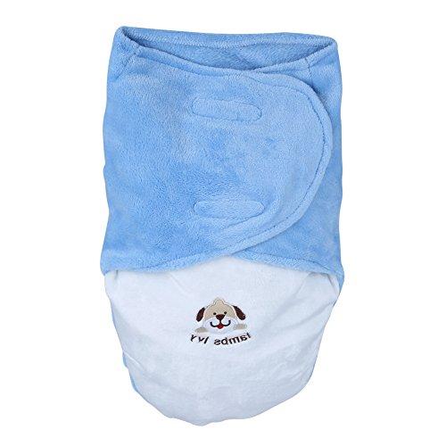 La Cabina Sac de Couchage Bébé Mignon Hiver Gigoteuses et Nids d'ange Peluche Confortable Multicolore pour Dors Bien et Garder Chaud (Bleu)