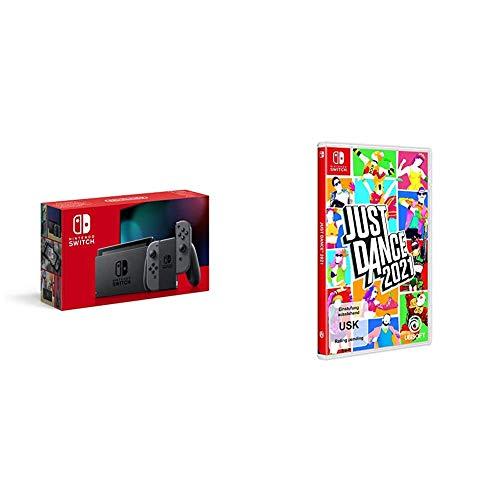 Nintendo Switch Konsole - Grau (2019 Edition) + Just Dance 2021 - [Nintendo Switch]