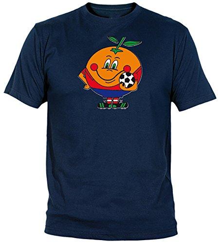 Desconocido Camiseta Naranjito Adulto/niño EGB ochenteras 80´s Retro (5-6 años, Marino)