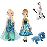 XUNLEI 4 Piezas Frozen 2 Snow Queen Princess Anna Elsa Plush Doll Fire Lizard 2 Fever Fire Elves Snowman Olaf Plush Doll para Regalo De Chico