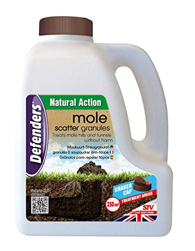 STV International 2 X 2.5 kg Mole Scatter Granules (Humane, Natural Mole Deterrent, Use Year-Round, Covers Up to 250 sq m, Safe for Use Around Kids and Pets)