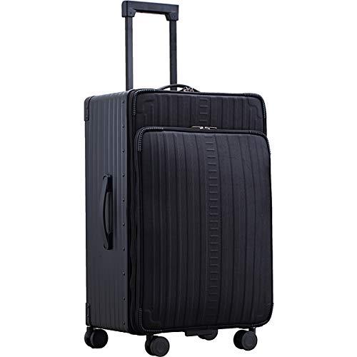 (NEOKEEPR) フロントオープン アルミ コーデュラナイロン スーツケース キャリーケース バックパック リュック ビジネスリュック バッグ (AF68F(キャリーケース 68L))