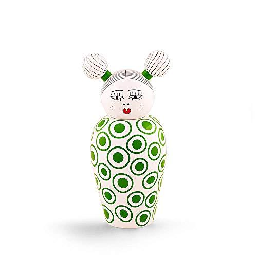 Seletti Canopie Izumi jarrón verde con tapa