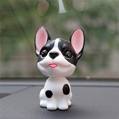 PU HUAI ZHAI Sculptures Ornaments Figurine,Bulldog Shaking Head Toys Cute Cartoon Bobble Head Puppy Dolls Car Auto Lovely Car Dashboard Decor bobblehead Dog
