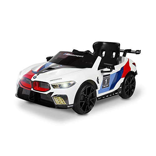 Rollplay 6V BMW M8 GTE Race Car Ride On Toy, Battery Operated Kid