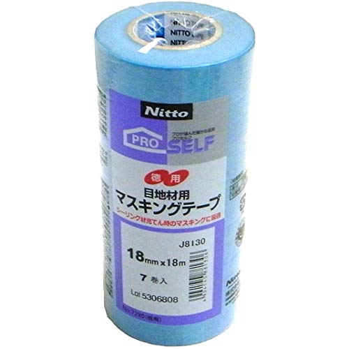 ニトムズ 目地材用マスキングテープ No.7280 18mmX18m 7巻入 青 NT-NO.7280-18-7P