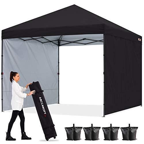 ABCCANOPY 3x3M Pavillon Outdoor Easy Pop-up-Überdachungszelt mit 2 Seitenwände,Schwarz