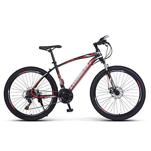Rueda de 26 pulgadas para hombre, bicicleta de montaña, marco de acero al carbono, MTB de 21/24/27 velocidades con freno de disco doble para niños, niñas, hombres y mujeres (tamaño: 27 velocidades, co