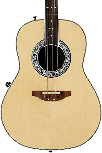 Ovation Signature Collection 6 String Mid Depth Body Acoustic Electric Guitar, Right, Natural, (1627VL-4GC)