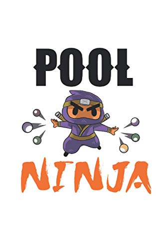 pool ninja Billiard notebook: | sketchbook with 120 pages lined, notebook lined, notebook ruled | Notebook, drawing book, 120 pages softcover (6x9 inch)