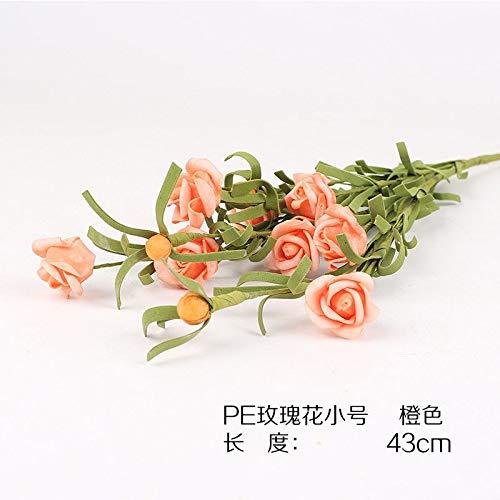 LXFLY Sensazione di Alta qualità PE Fiore Artificiale Fiore Artificiale Fiore Singolo Fiore Tavolo da tè Tavolo da Pranzo Composizione Floreale Soggiorno Retro Rosa F
