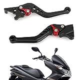 Artudatech オートバイ用 1ペア 左+右 HONDA PCX 125用 アルミニウム オートバイブレーキクラッチレバー ブラック