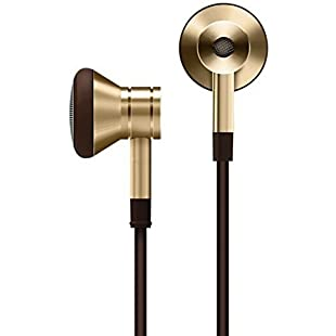 1MORE Dynamic Driver Earbuds Fashion Retro Style Earphones with Secure Fit, Durable Tangle-Free Cable, In-Line Remote & Mic for iPhone/Android/PC/Tablet - EO320 Gold