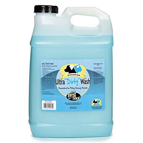 Best Shot Ultra Dirty Wash Dog Shampoo Grooming Bathing Deep Clean Concentrate 2.5 Gallon