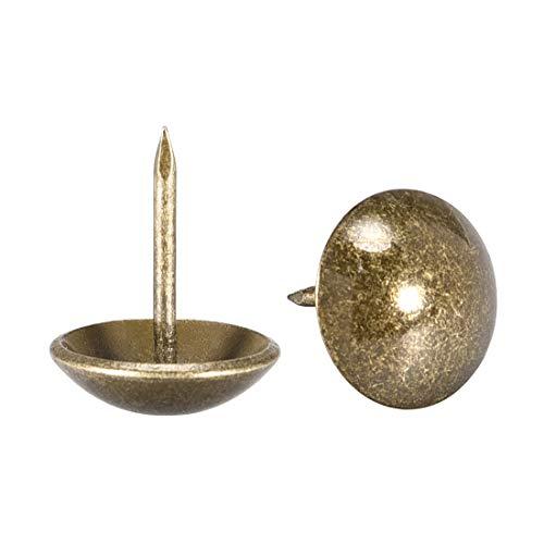 Clavos de Cobre Antiguos Ding/&ng Clavos de Cobre Puro 250 g Clavos Dorados Clavos Decorativos de Cabeza Redonda