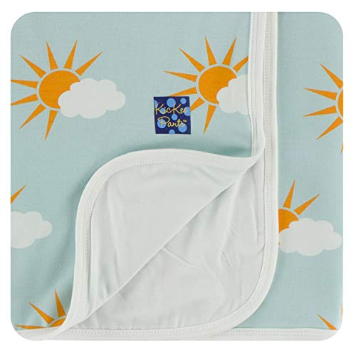 KicKee Pants Little Boys Print Stroller Blanket - Spring Sky Partial Sun, One Size