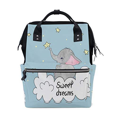 Bambino felice carino elefante cartone animato grande capacità borse pannolini Mummia zaino multi funzioni pannolino infermieristica borsa tote borsa bambini cura bambino viaggio giornaliero donne