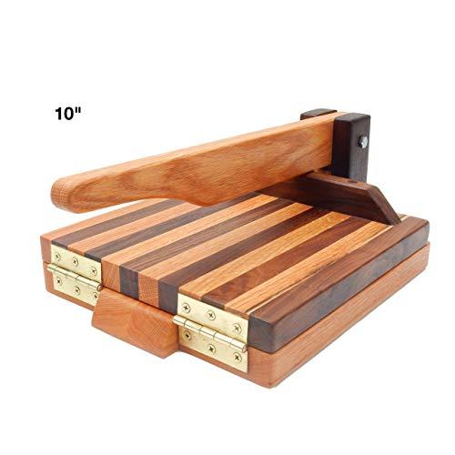 Hardwood Tortilla Press - Oak & Walnut- 10 inch