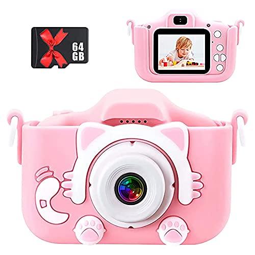 Mini cámara de dibujos animados para niños,Digital recargable de 2 pulgadas,para exteriores niñas cumpleaños juguetes regalos 4-12 años de edad niño videocámara cámara