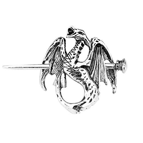 HAQUIL Dragon Accessories Fire Dragon Hairpin Stick Barrette Hair Clips Hair Accessories for Women and Girls