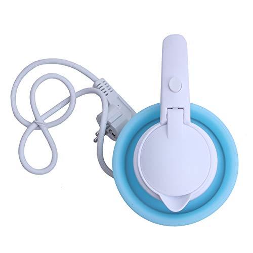OVBBESS 0,75L Bollitore Elettrico in Silicone Pieghevole da 680 W Portatile da Viaggio in Campeggio Caldaia per Acqua Tensione Regolabile per Uso Domestico Elettrodomestici-Spina UE