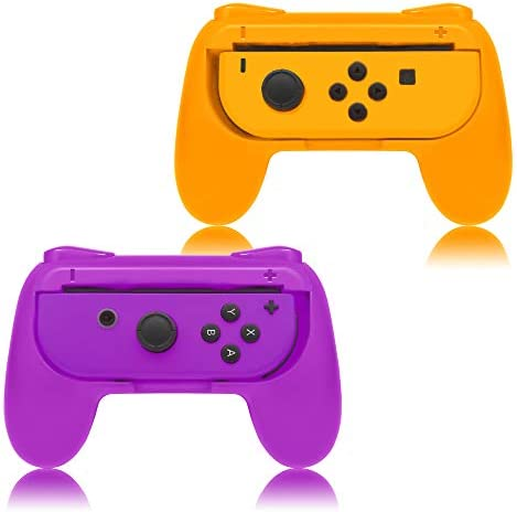 FYOUNG Hand Grips Compatible with Nintendo Switch/Switch OLED Model Controllers, Grip Compatible with Switch Joy Con - Blue and Red (2 Packs)