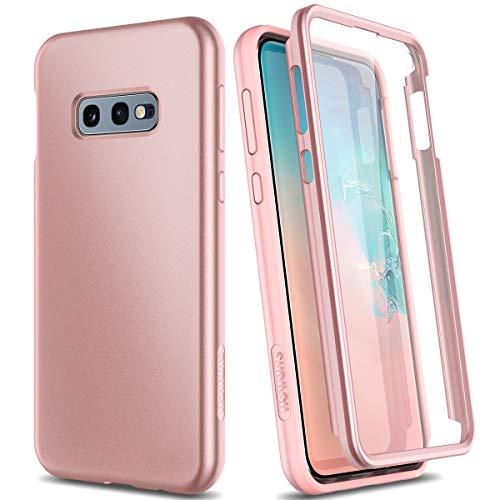 SURITCH Kompatibel mit Samsung Galaxy S10e Hülle 360 Grad Hüllen mit Integriertem Displayschutz Silikon Komplettschutz Handyhülle Schutzhülle für Samsung Galaxy S10e Rose Gold