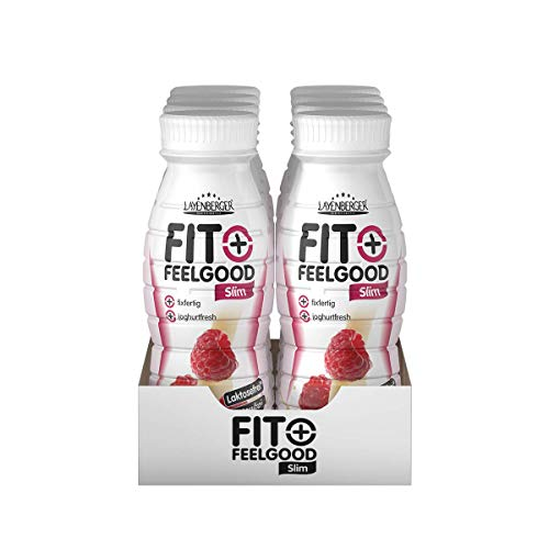 Layenberger Fit+Feelgood Diät Shake fixfertig Himbeer-Vanille, 8er Pack (8 x 312 ml)