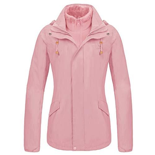 Women Ski Jacket Winter Fleece - Waterproof 3-in-1 Jacket Insulated Coat Windbreaker Outdoor Fashion