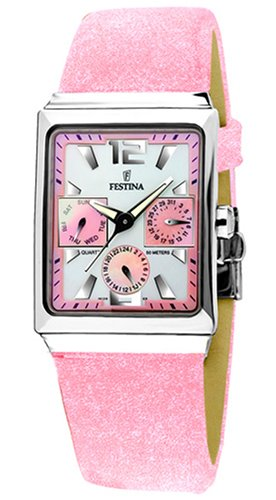 Festina F16139/3 - Reloj para Mujeres, Correa de Cuero Color Rosa