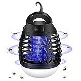 mixigoo Lampe Anti Moustique, 2 en 1 Moustique Tueur Lampe USB Rechargeable Portable UV Tueur de Moustiques...