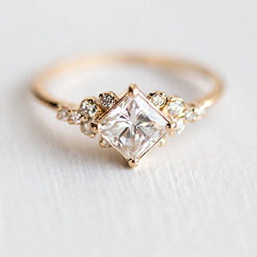 Vintage 18K Rose Gold Filled Morganite Ring Wedding Bridal Women Jewelry Sz 6 10 7 product image