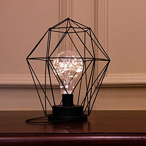 Kindernachtlampje LED-licht romantische vorm RVS kandelaar LED-nachtlampje (geometric)